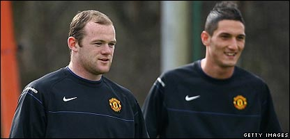 Wayne Rooney and Federico Macheda