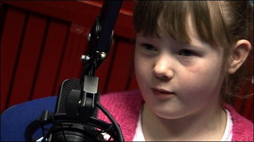 Elaina in the radio studio