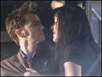 David Tennant and Michelle Ryan as the Doctor and Lady Christina in the Easter special