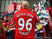 A Liverpool fan at Anfield