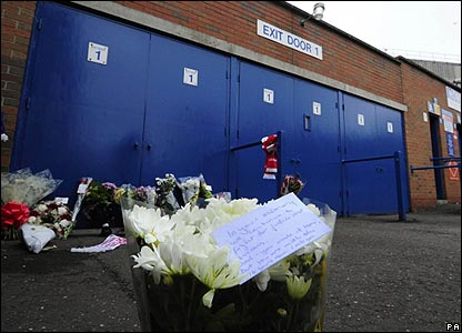 Flowers outside Hillsborough