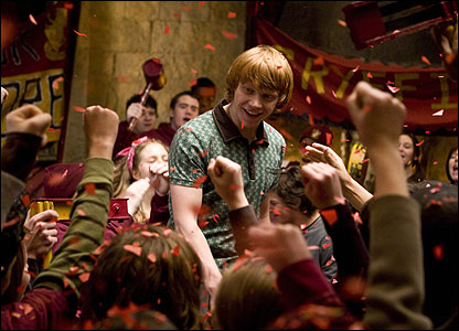 Ron Weasley in the Gryffindor common room