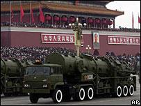 在世界5個主要的核大國當中,中國的核武庫最小。