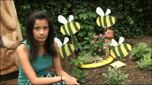 Sonali in the Blue Peter garden