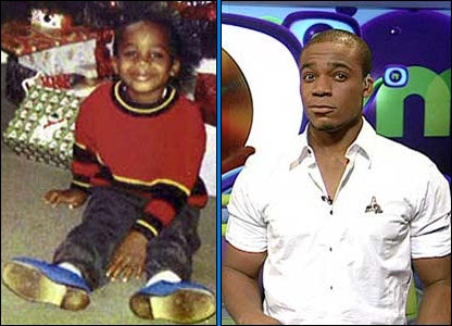 Ore as a child and on the set of Newsround