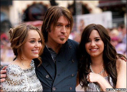 Miley Cyrus, Billy Ray and Demi Lovato