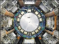 Part of the Large Hadron Collider (LHC)