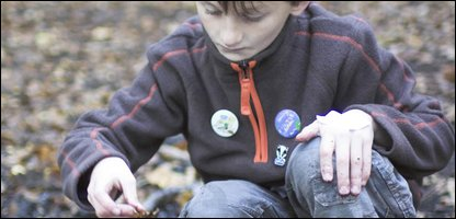 Harry looking at wildlife