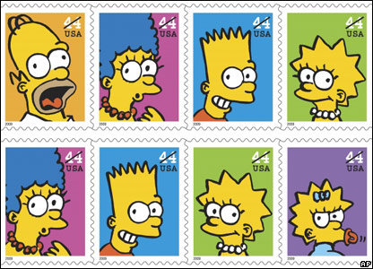 The Simpsons stamps