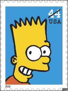 Bart Simpson stamp
