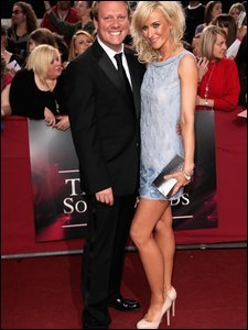 Anthony Cotton and Katherine Kelly arrive at the British Soap Awards