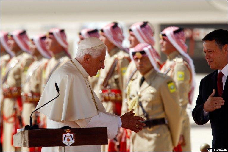 Pope King Abdullah King Abdullah Saw Him Off at