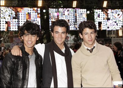 Joe, Kevin and Nick Jonas at their UK premiere in London