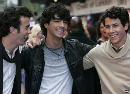 Kevin, Joe and Nick Jonas
