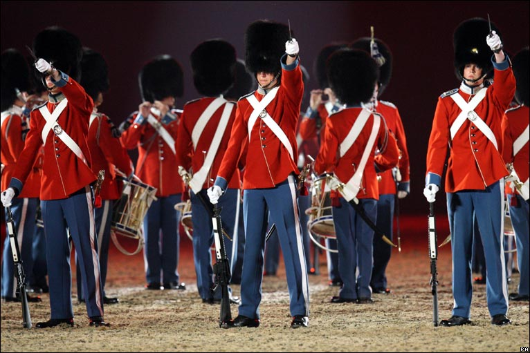 from Denmark, performed in the Windsor Castle Royal Tattoo in Berkshire.