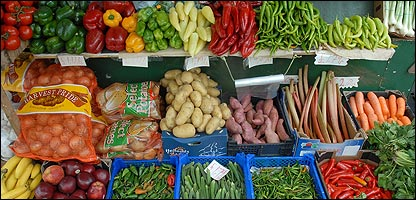Vegetables on a stall