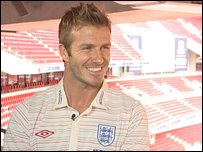 David Beckham talking to Sportsround