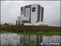 Bad weather at Florida's Kennedy Space Centre