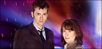 David Tennant and Elizabeth Sladen