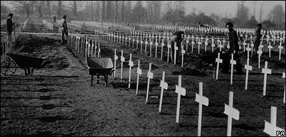 War graves in Normandy