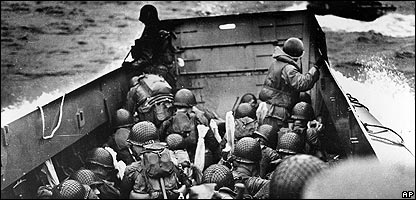Soldiers at D-Day in 1944