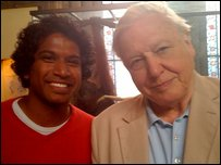 Gavin meets Sir David Attenborough