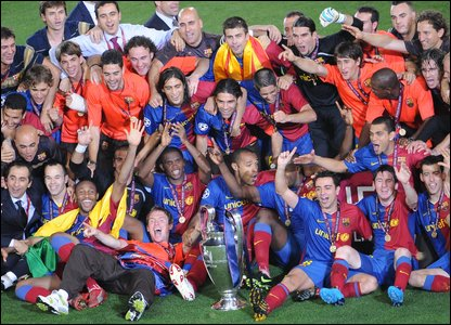 Barcelona celebrate becoming champions of Europe