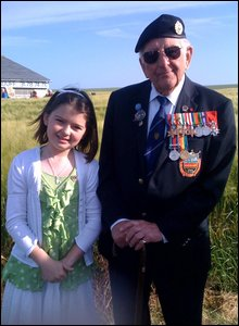 Lily and her grandad Don