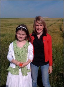 Lily and Maddy on the poppy fields