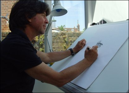Anthony Browne at work