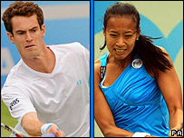 Andy Murray and Anne Keothavong