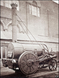 Stephenson's Rocket steam train