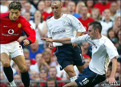 Cristiano Ronaldo, Manchester United; Stylianos Giannakopoulos, Nicky Hunt, Bolton Wanderers