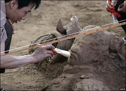 An archaeologist at work in China