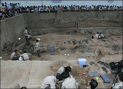 Archaeologists at work in China