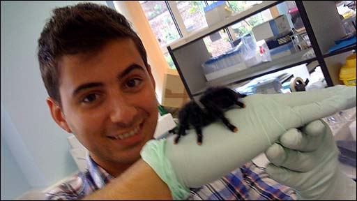 Ricky with a spider