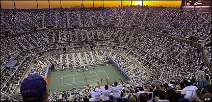 The Arthur Ashe stadium in New York, America