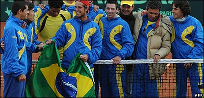 The Brazilian Davis Cup team