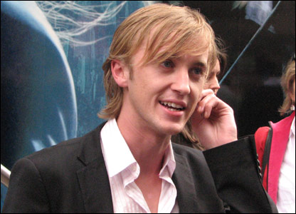 Tom Felton who plays Draco Malfoy