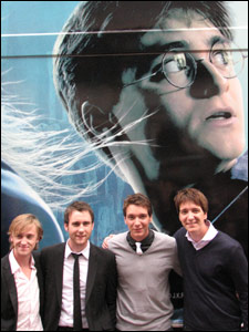 Tom Felton, Matthew Lewis and James and  Oliver Phelps