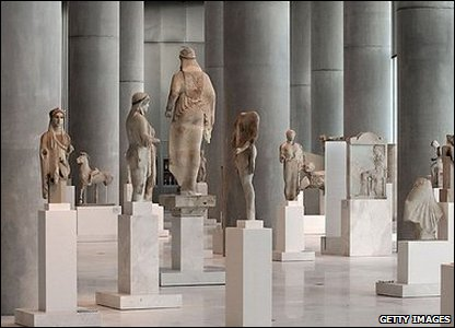Interior of the Acropolis Museum