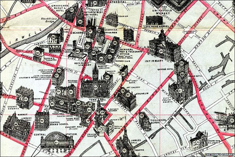 Manchester City Map Images  Frompo