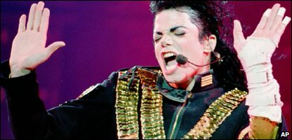 Michael Jackson performing in 1993
