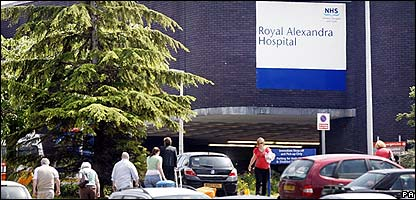 Hospital where the man died