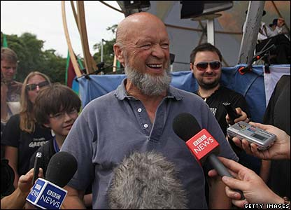 This is the festival organiser Michael Eavis - he said he was really pleased with how it went this year.
