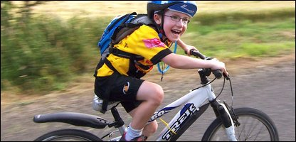 A boy riding a bike. Picture copyright: Carlton Reid