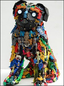 A sculpture of a pug dog which artists Robert Bradford was asked to make. Pic from Robert Bradford