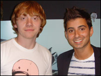 Rupert Grint with Ricky
