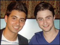 Daniel Radcliffe with Ricky