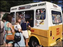 An ice-cream van